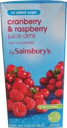 No Added Sugar Cranberry & Raspberry Juice Drink from Sainsbury's