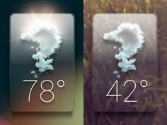 Glass weather Dribbble