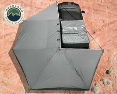 OVS Nomadic Awning 270 Driver Side Dark Gray Cover With Black Cover Universal Cover Gray, Black Cover, Tent Awning, Roof Top Tent, Truck Tent, Truck Camping, Motorhome, Fishing Rod Storage, Overland Truck