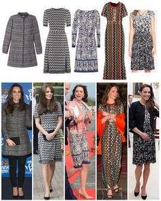 Kate's Tory Burch clothing: 1: 'Bettina' Coat, worn in New York to the NBA late 2014 - $689 2: 'Paulina' knit dress, worn in New Zealand 2014 and to Harrow College 2015 - $556 3: 'Chrissy' dress, worn to a Place2Be conference in 2014 and again this year in India - $500 4: 'Floral Mesh Gown', worn to a dinner with the King and Queen of Bhutan earlier this year - was $1,495, now $589 5: 'Sophia' dress, worn to the US Embassy last month - $158 What's your favourite? ☺️