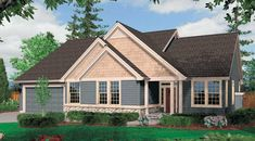 With a just-right size and perfect proportions, this home offers both practicality and personality. The traditional exterior features a mix of materials from cedar shingles to lap siding, with stone accents.