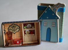 Soo cute match box doll house