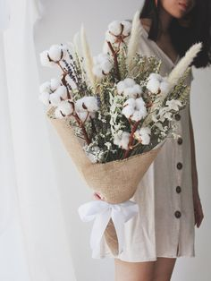 Comes with a mix of dried cotton flower, lightly scented lavender, eucalyptus. A regular bouquet Lavender Bouquet, Dried Flower Bouquet, Lavender Flowers, Dried Flowers, Beautiful Flowers, Dried Flower Arrangements, Beautiful Flower Arrangements, Wedding Bouquets, Wedding Flowers