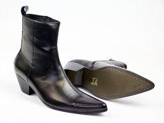 MADCAP ENGLAND Retro Mod Chelsea Cuban Casbah Boots Leather
