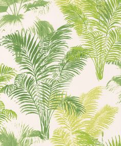 Jungle Palm by Galerie - Green : Wallpaper Direct