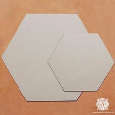 Hexagon Pattern Wall Art Wood Shapes for DIY painted wall decor. Get creative decorating with these recycled wood shapes. Great for painting, stenciling, and de