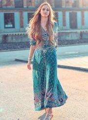 women-s-bohemian-v-neck-half-sleeve-high-slit-print-maxi-dress