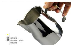 咖啡奶缸 拉花缸 拉花杯 特氟龙 尖嘴 刻度 斜口 304不锈钢奶泡壶-tmall.com天猫