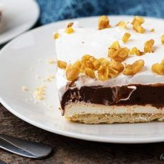 4 layer chocolate dessert.  I wonder if I can incorporate coconut into this. I may make vanilla pudding with coconut instead.