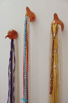 Gourds, Walls, Drop Earrings, Hair Styles, Design, Beauty, Cotton Rope, Gifts, Crafts