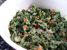 Sexy Kale With Avocado-Chia Dressing