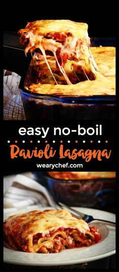An easier and faster version of a favorite pasta dish, this ravioli lasagna is absolutely amazing.  Quick to make and tastes like the real thing! It's a perfect family dinner recipe!