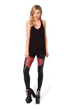 Spartans Sheer Tartan Red Leggings › Black Milk Clothing $90