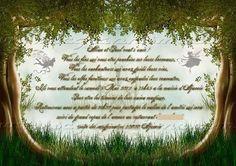 """Faire-part de mariage thème """"Rencontre surprenante"""" (fée, nature, crapaud, forêt - 2 versions) by scgraphisme.com"""