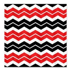 Black, White and Red Shower Curtain