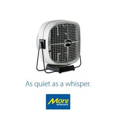 Not only is this fan quiet, it's also very easy to mount on your wall. Hassle free set up means you can enjoy the breeze right away. Redeem today! https://www.morerewards.ca/catalog…/seabreeze-cool-sweep-fan