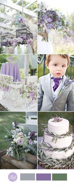 lavender and grey wedding color ideas