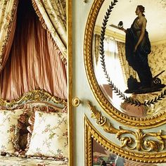 Alberto Pinto - Architecture d'intérieur  drapery treatment inspiration for the upstairs landing; must be beautiful from both sides