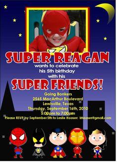 superhero party invite