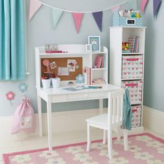 Girls Desks cargo desk & hutch (white) | desks, desk hutch and room