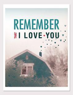 recuerda que te amo