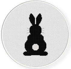 Behind a Rabbit PDF Cross Stitch Pattern Needlecraft - Instant Download - Modern Chart by DailyCrossStitch on Etsy https://www.etsy.com/listing/210813653/behind-a-rabbit-pdf-cross-stitch-pattern