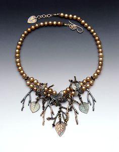 From Pat Bolger. Love the design, the leaves esp. repeated in the clasp.