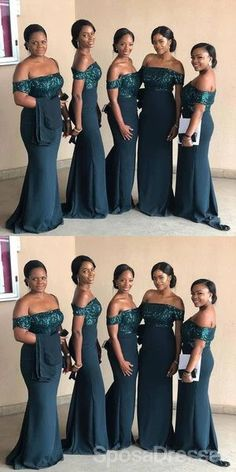 Off Shoulder Teal Mermaid Sequin Bodice Cheap Long Cheap Bridesmaid Dresses Online, WG641#bridesmaids #bridesmaiddress #bridesmaiddresses #dressesformaidofhonor #weddingparty #2020bridesmaiddresses