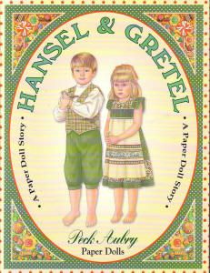 Hansel and Gretel paper dolls, 3 outfits each