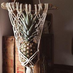 Dernière trouvaille , la sac à ananas  #modernmacrame #livehandmade