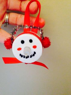 4 Tea light Snowman Christmas Ornaments