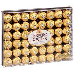 Ferrero Rocher Fine Hazelnut Chocolates 48 Pieces Gift Box for sale online Chocolate Hazelnut, Chocolate Gifts, Chocolate Lovers, Chocolate Wrapping, Chocolate Gold, Chocolate Brands, Gourmet Recipes, Snack Recipes, Ferrero Rocher Chocolates