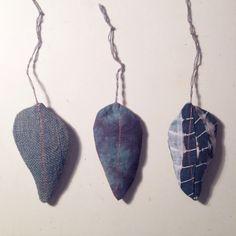 Sunday at the studio, working on shibori leaves | dye | nature | indigo