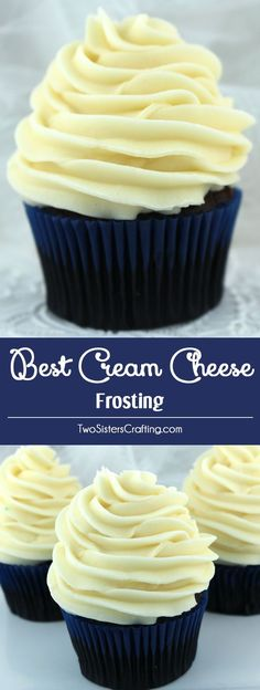 The Best Cream Cheese Frosting is the perfect version of this classic frosting. It is super delicious and so easy to make. Sweet, creamy and so very yummy, your family will beg you to make this cream (Cream Cheese Muffins) Dessert Oreo, Brownie Desserts, Köstliche Desserts, Delicious Desserts, Dessert Recipes, Dessert Food, Bolo Red Velvet, Baking Recipes, Healthy Recipes