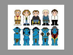 Avatar Pixel People Character Cross Stitch PDF by CheekySharkLabs