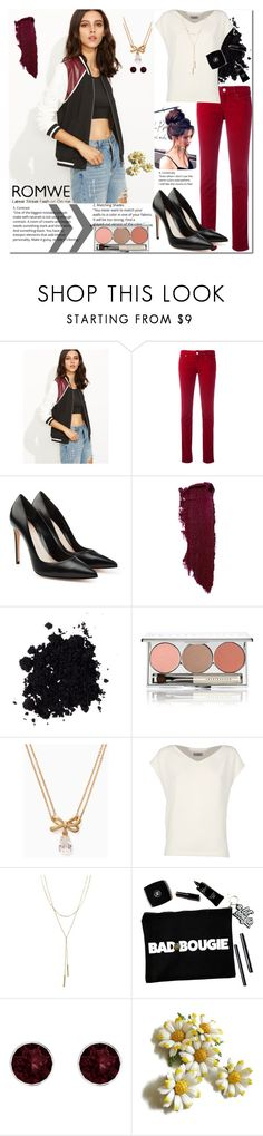 """""""Black jacket"""" by pengy-vanou ❤ liked on Polyvore featuring Armani Jeans, Alexander McQueen, Chantecaille, Kate Spade, Alberto Biani, Bloomingdale's and Pink Box"""