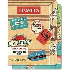 Cavallini Vintage Travel Notebook Set