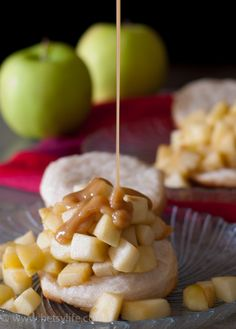Caramel Apple Shortcake with Rum Whipped Cream Recipe. Fall dessert at it's finest