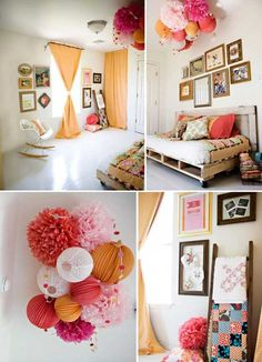 pink and orange nursery - Google Search