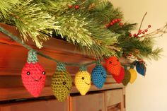 Damn I wish I knew how to knit/crotchet because these lights are so cute!! The Dapper Toad: Free Crochet Pattern: Amigurumi Holiday Lights