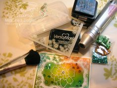 """by Stamping with Bibiana: Embossing Powder with the Stencil """"Blooming Frame"""""""