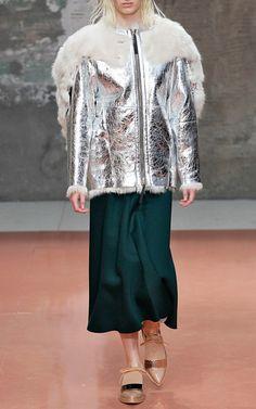 DARK GREEN  2014 RUNWAY   Dark Green Bonded Jersey Long Skirt by Marni for Preorder on Moda ...
