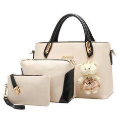 f5421c62b5b0 Women PU Leather Composite Bag Women s Handbags