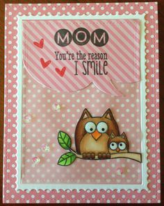 Mother's Day Card. Hero Arts Lil Hoot.
