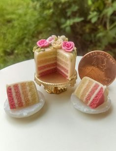 Dollhouse Miniature One Inch Scale Cake by CSpykersMiniatures   Dolls & Bears, Dollhouse Miniatures, Food & Groceries   eBay!