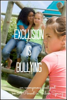 exclusion-is-bullying | guest post on @Jessica McFadden