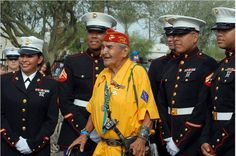 GIVE HONOR - WWII Navajo Code Talker with his brothers and sisters There aren't very many of the code talkers left.