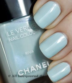 """""""Something blue"""" strip on left ring finger with a French manicure. Chanel Nail Polish, Chanel Nails, Hair And Nails, My Nails, Essential Oils For Skin, Mascara, Eyeliner, Skin Care Cream, Beauty Tips For Skin"""