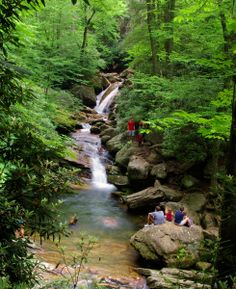 Skinny Dip Falls along the Blue Ridge Parkway in North Carolina