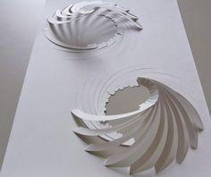 swirls! Paper Architecture, Concept Architecture, Module Architecture, Architecture Design, Architecture Models, Art Du Papier, Paper Models, Origami Paper, Arch Model